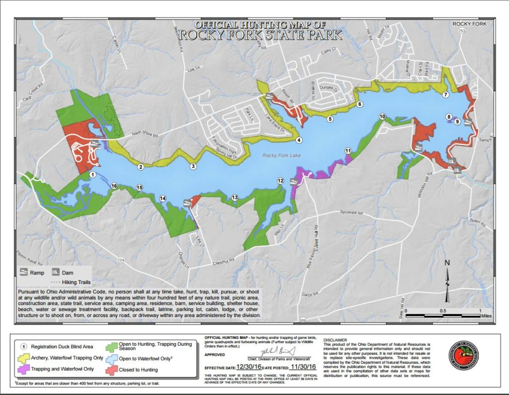 Hunting Hunt Map Rocky Fork Lake