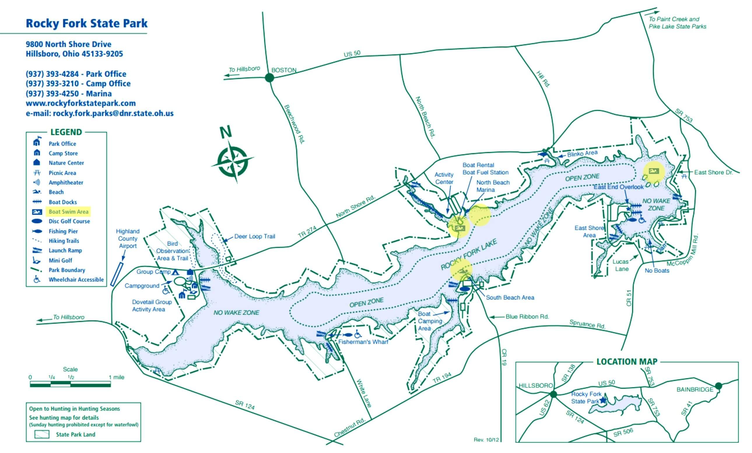 rocky fork lake map Swim Rocky Fork Lake rocky fork lake map